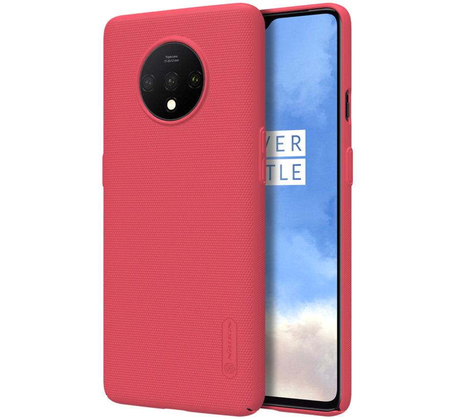 OnePlus 7T Hülle Super Frosted Shield Rot
