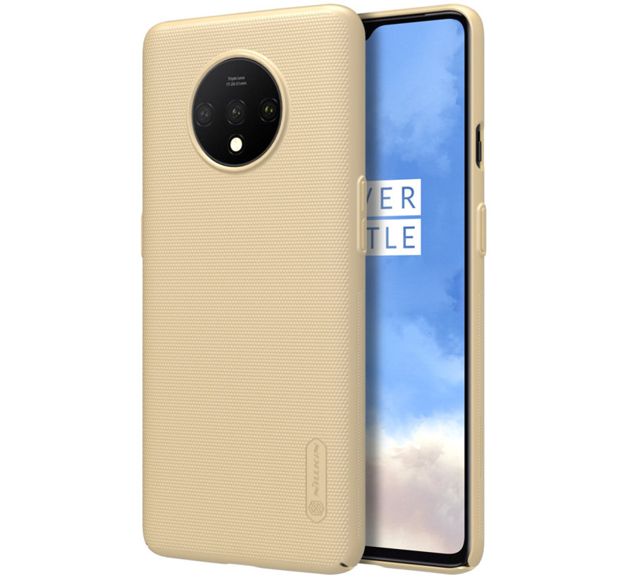 OnePlus 7T Hoesje Super Frosted Shield Goud