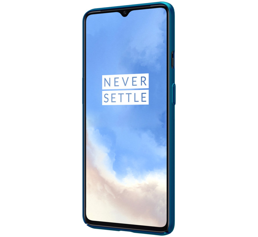 OnePlus 7T Hoesje Super Frosted Shield Peacock Blue