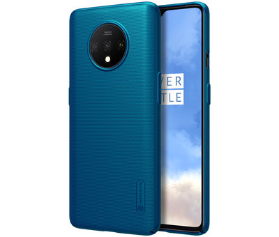 Nillkin OnePlus 7T Hoesje Super Frosted Shield Peacock Blue