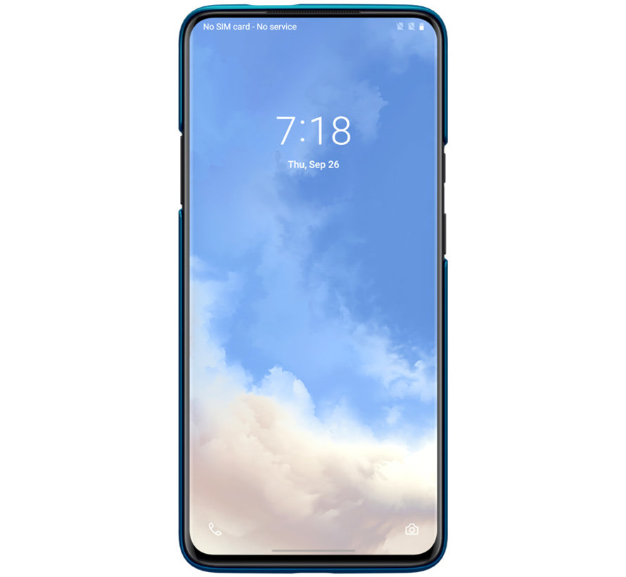 OnePlus 7T Pro Hoesje Super Frosted Shield Peacock Blue