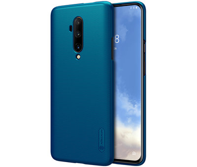 Nillkin OnePlus 7T Pro Hoesje Super Frosted Shield Peacock Blue