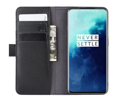 OPPRO OnePlus 7T Pro Wallet Case Echtes Leder Schwarz