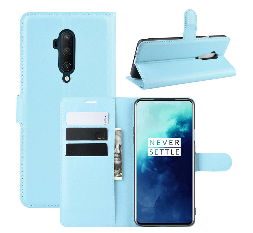 OnePlus 7T Pro Wallet Flip Case Blau