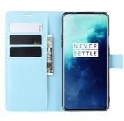 OPPRO OnePlus 7T Pro Wallet Flip Case Blauw