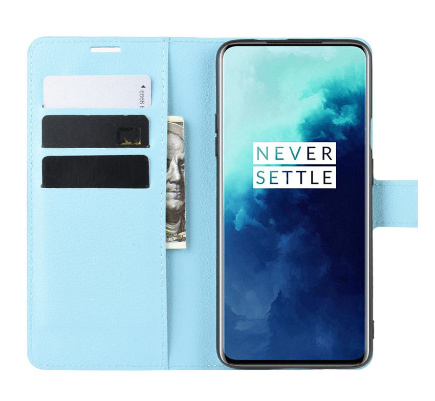 OnePlus 7T Pro Wallet Flip Case Blauw