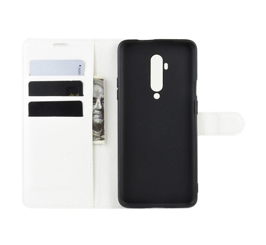 OnePlus 7T Pro Wallet Flip Case Weiß