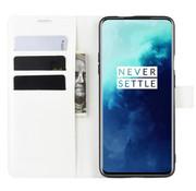 OPPRO OnePlus 7T Pro Wallet Flip Case Weiß
