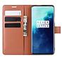 OnePlus 7T Pro Wallet Flip Case Braun