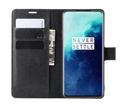 OPPRO OnePlus 7T Pro Wallet Flip Case Schwarz