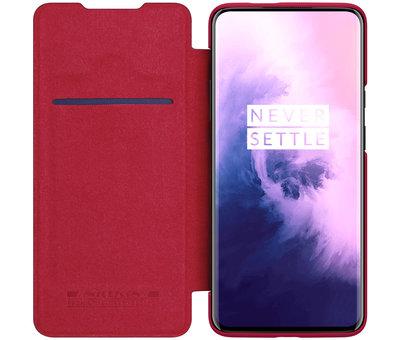Nillkin OnePlus 7T Pro Flip Case Qin Rood