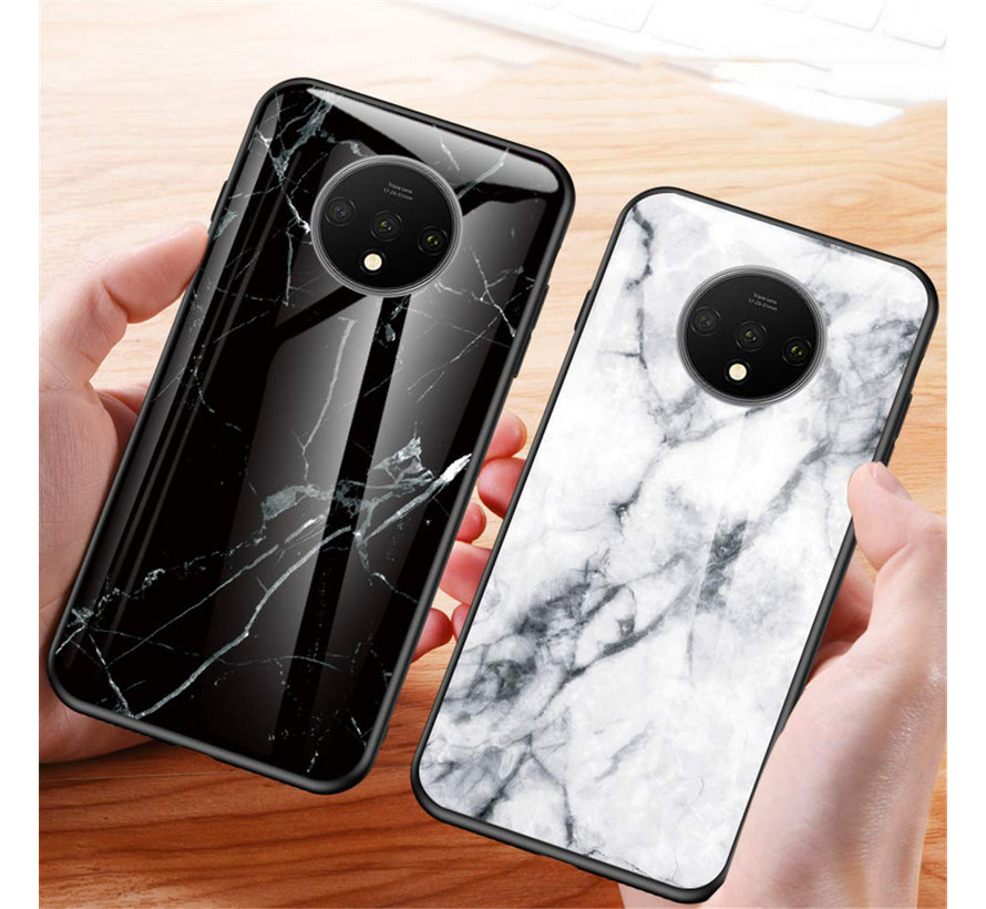 OnePlus 7T Glass Design Case Marble Black