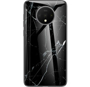 OPPRO OnePlus 7T Glass Design Case Marble Black
