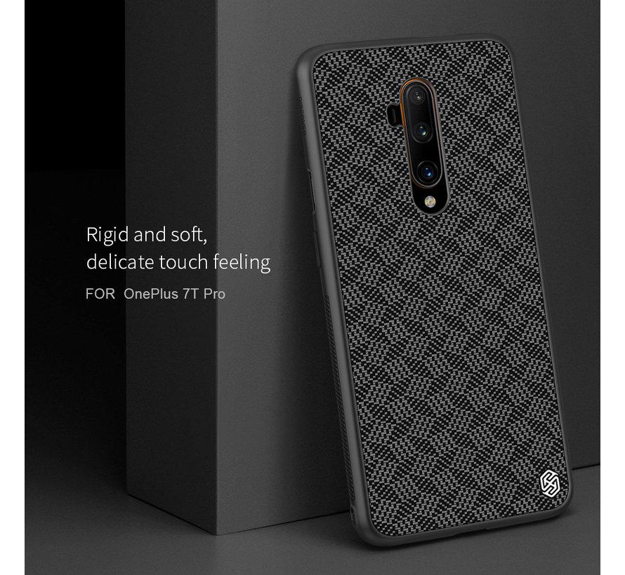 OnePlus 7T Pro Hoesje Carbon Fiber (Plaid) Zwart