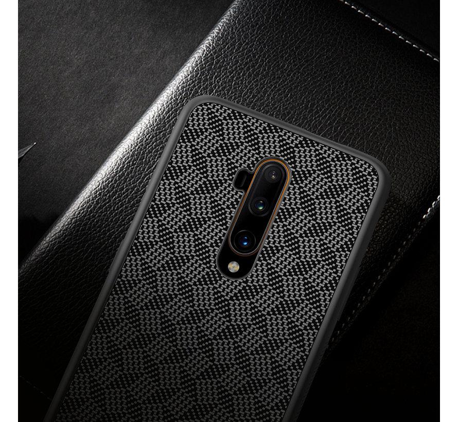 OnePlus 7T Pro Hülle Kohlefaser (Plaid) Schwarz