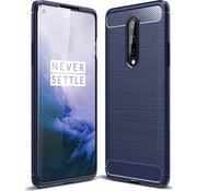 OPPRO OnePlus 8 Case Gebürstetes Carbonblau