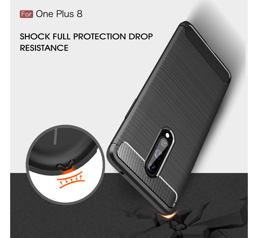 OnePlus 8 Case Gebürstetes Carbonblau