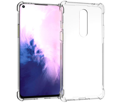 OPPRO OnePlus 8 Hoesje TPU Shock Proof Transparant