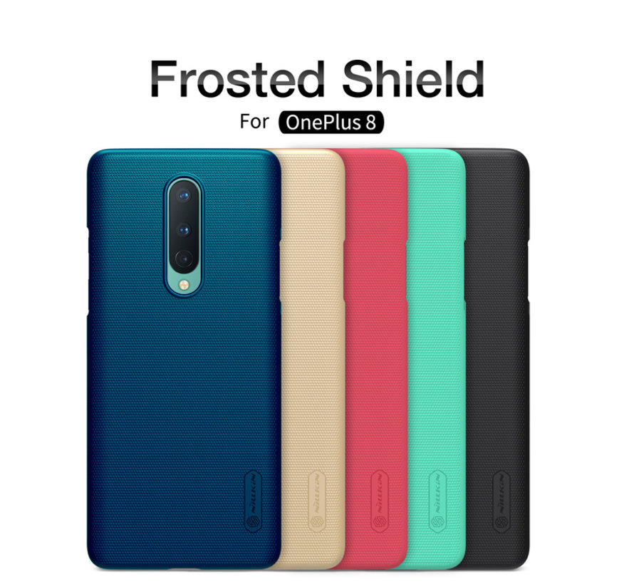 OnePlus 8 Hoesje Super Frosted Shield Peacock Blue