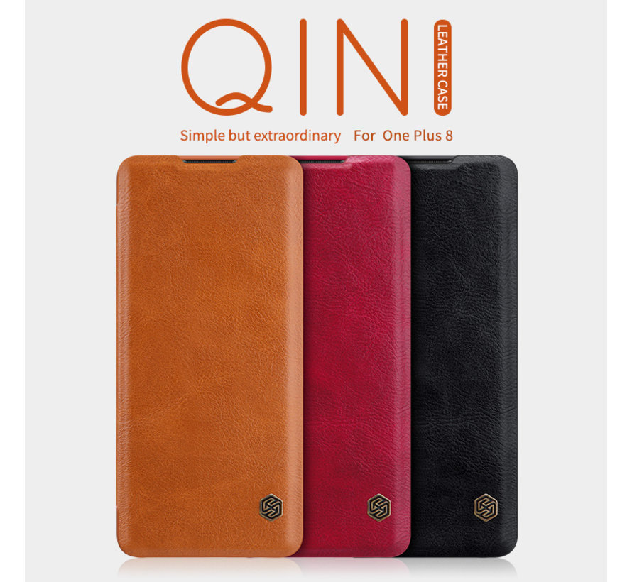 OnePlus 8 Flip Case Qin Brown