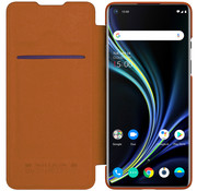 Nillkin OnePlus 8 Flip Case Qin Brown