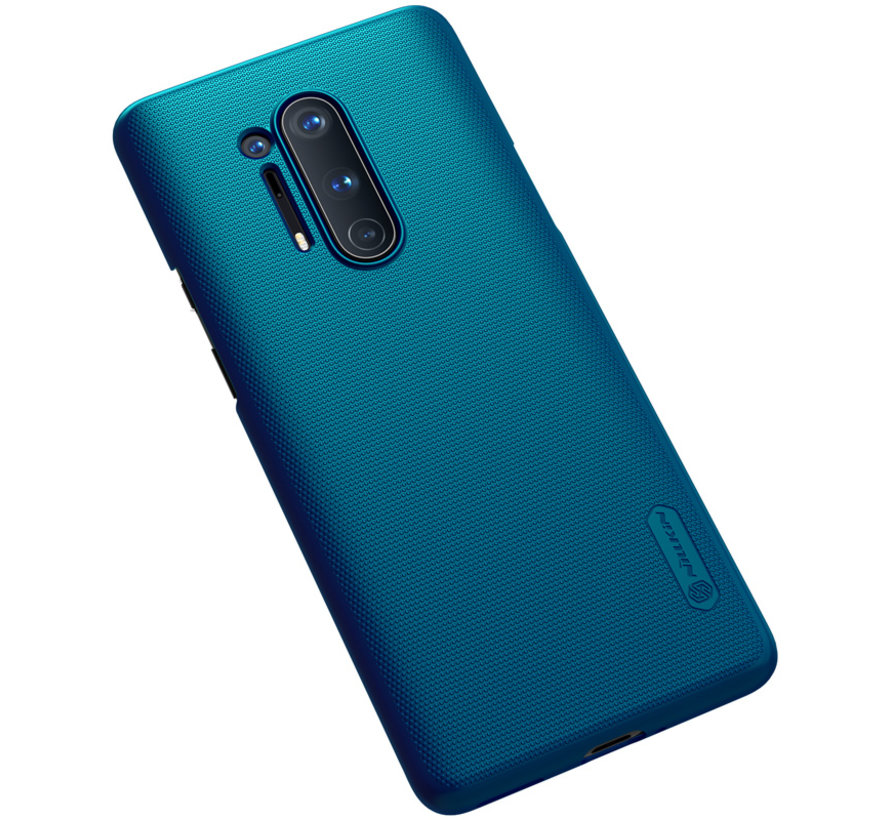OnePlus 8 Pro Hoesje Super Frosted Shield Peacock Blue
