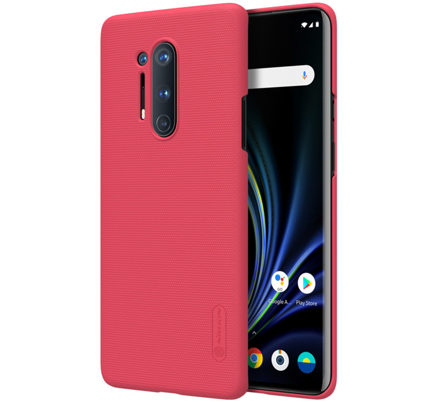 OnePlus 8 Pro Hoesje Super Frosted Shield Rood