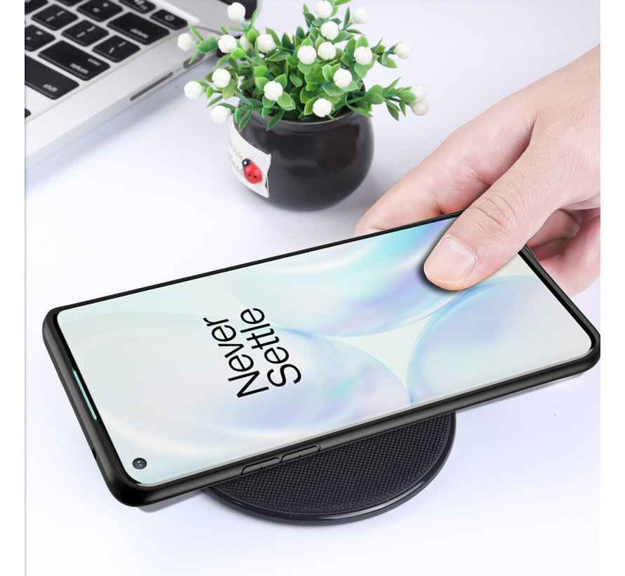 OnePlus 8 Hybrid Stoßstange Schwarzes Gehäuse