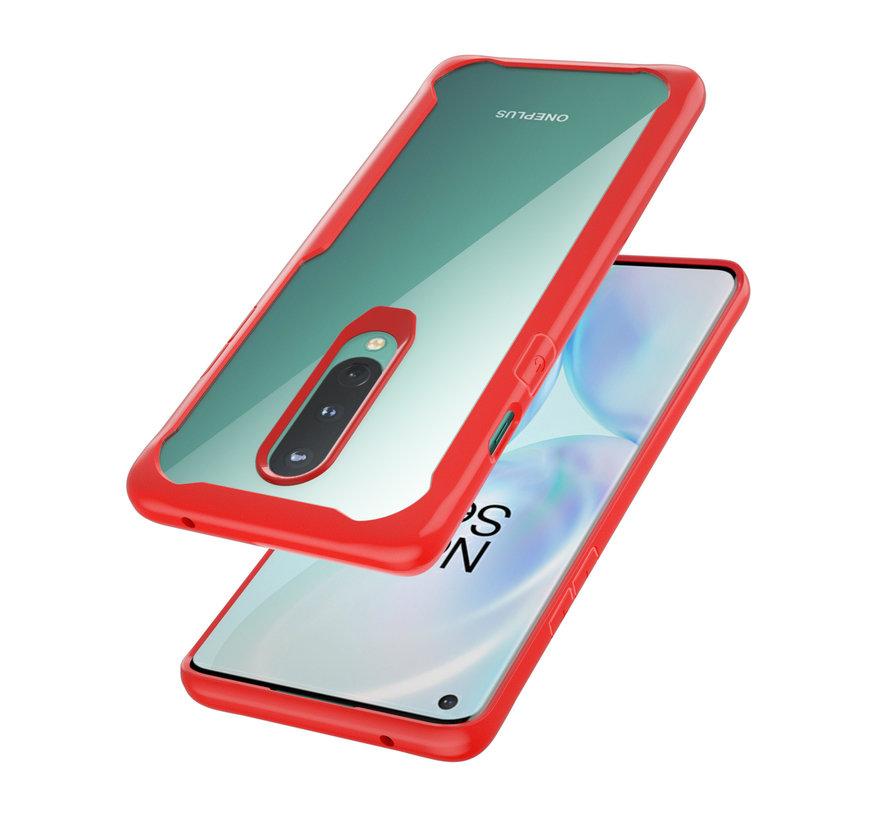 OnePlus 8 Hybrid Bumper Red Case