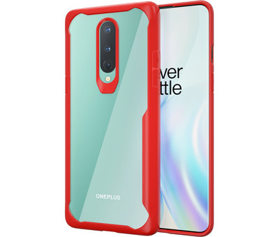 OPPRO OnePlus 8 Hybrid Bumper Red Case