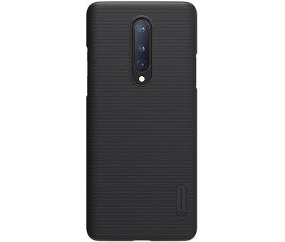 Nillkin OnePlus 8 Hoesje Super Frosted Shield Zwart