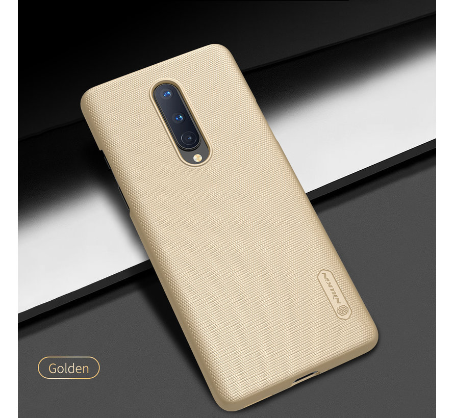 OnePlus 8 Hoesje Super Frosted Shield Goud
