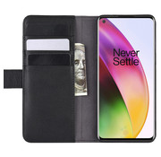 OPPRO OnePlus 8 Wallet Case Genuine Leather Black