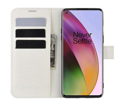 OPPRO OnePlus 8 Wallet Flip Case Weiß