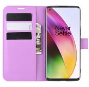 OPPRO OnePlus 8 Wallet Flip Case Lila