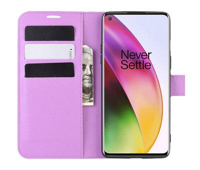 OPPRO OnePlus 8 Wallet Flip Case Paars
