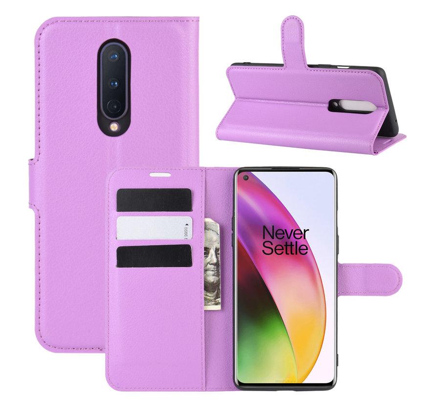 OnePlus 8 Wallet Flip Case Lila