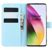 OPPRO OnePlus 8 Wallet Flip Case Blauw
