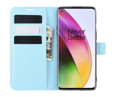 OPPRO OnePlus 8 Wallet Flip Case Blau