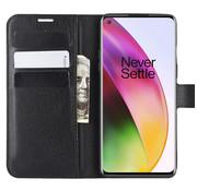 OPPRO OnePlus 8 Wallet Flip Case Zwart