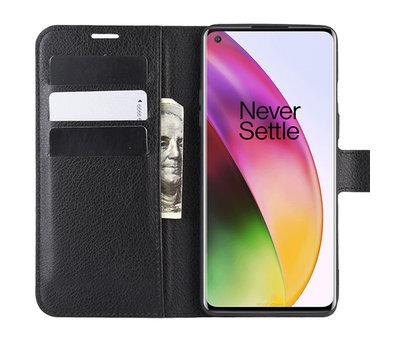 OPPRO OnePlus 8 Wallet Flip Case Schwarz
