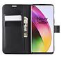 OnePlus 8 Wallet Flip Case Zwart