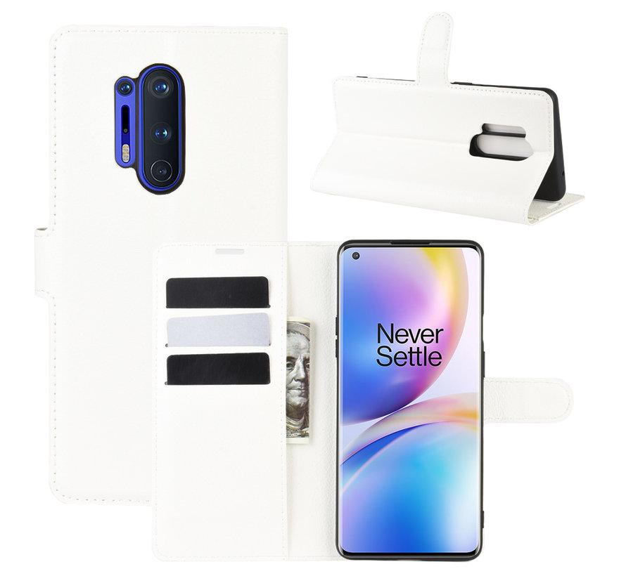 OnePlus 8 Pro Brieftasche Flip Case Weiß