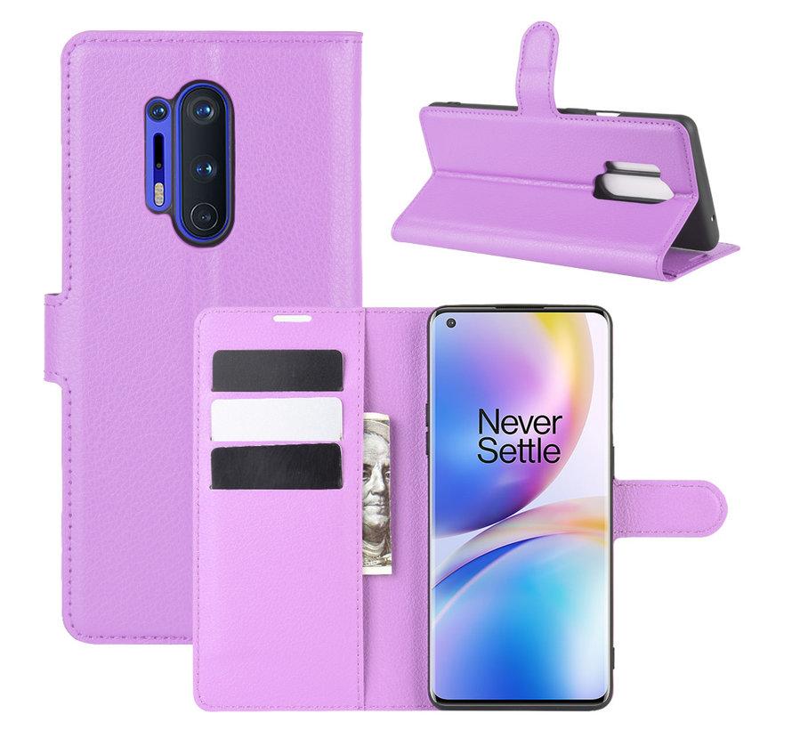 OnePlus 8 Pro Brieftasche Flip Case Lila