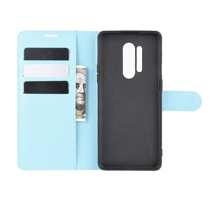 OnePlus 8 Pro Wallet Flip Case Blauw