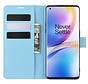 OnePlus 8 Pro Brieftasche Flip Case Blau