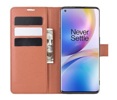 OPPRO OnePlus 8 Pro Brieftasche Flip Case Braun