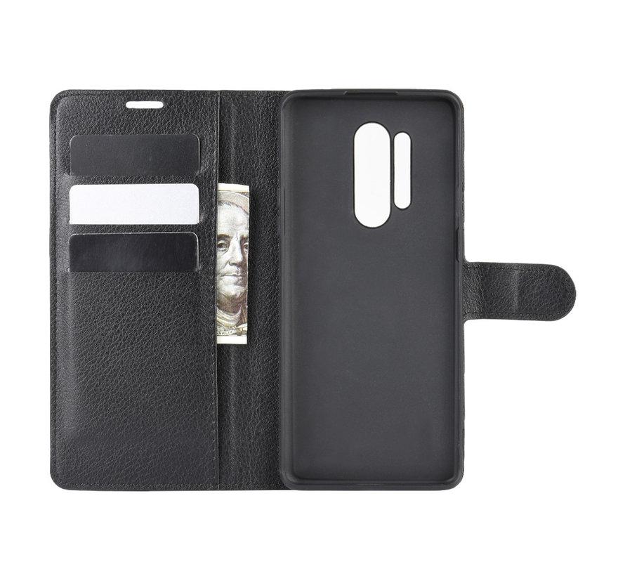 OnePlus 8 Pro Wallet Flip Case Zwart