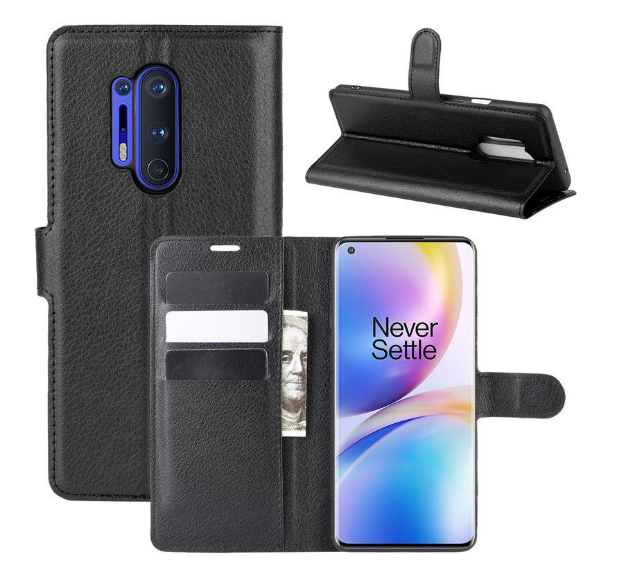 OnePlus 8 Pro Wallet Flip Case Schwarz