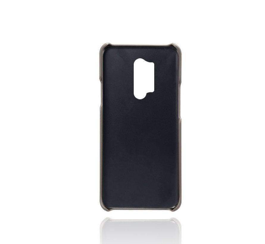 OnePlus 8 Pro Case Kartenhalter aus schmalem Leder Grau